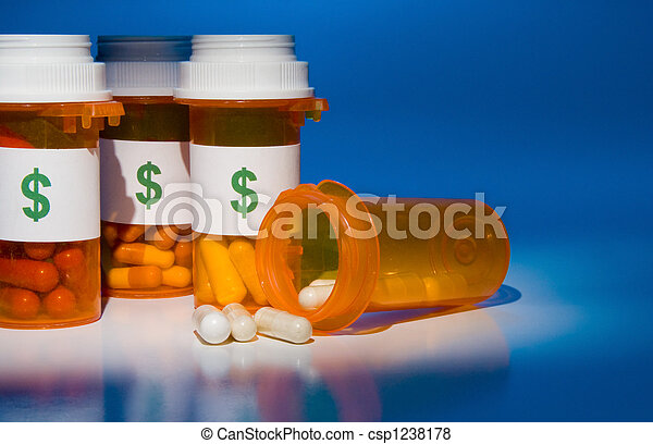High Cost of Medication - csp1238178