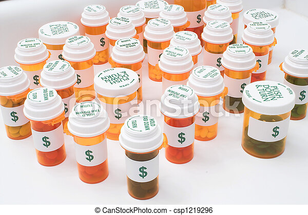 High Cost of Medication - csp1219296