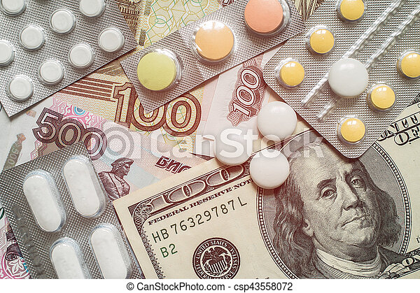 High costs of expensive medication concept - csp43558072