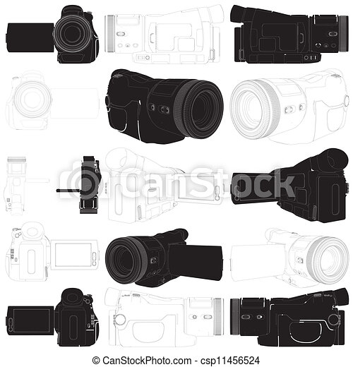 high-definition, カメラ, ビデオ - csp11456524