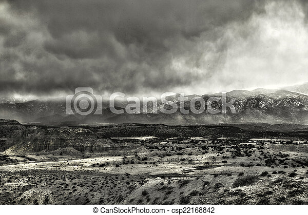 High Desert Storm Clouds - csp22168842