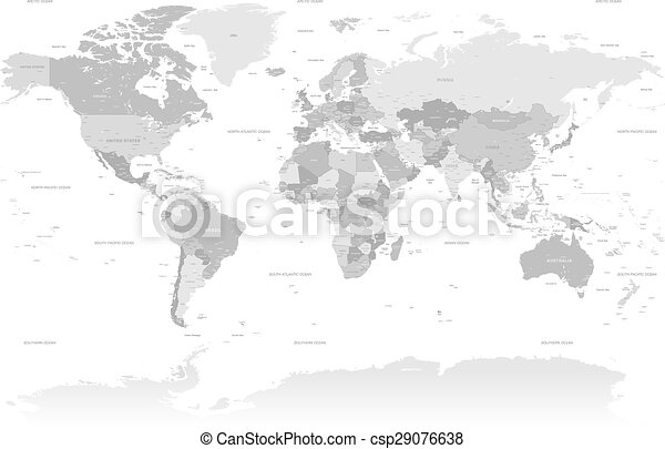 High detail grey world map a high detail vector map set composed by high detail grey world map csp29076638 gumiabroncs Image collections