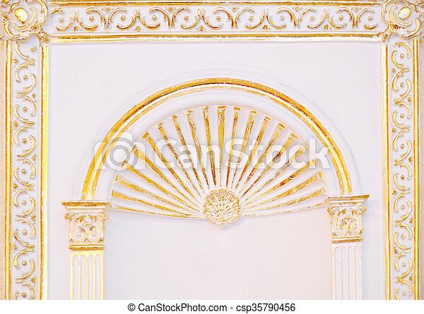 High detailed islamic art arch architectural concept - csp35790456
