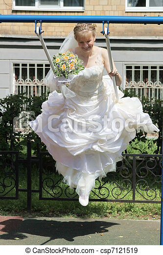 High flying bride - csp7121519