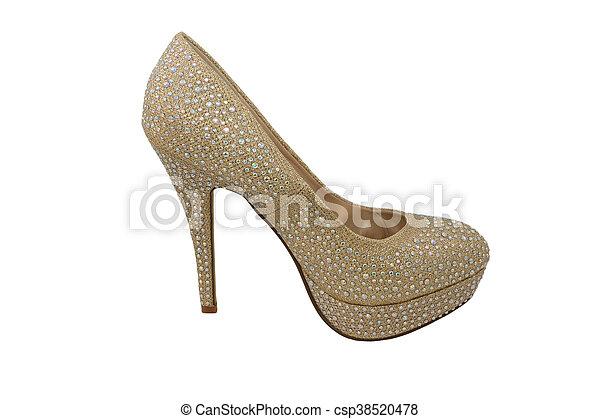 680f2d1b095 High heel gold shoe