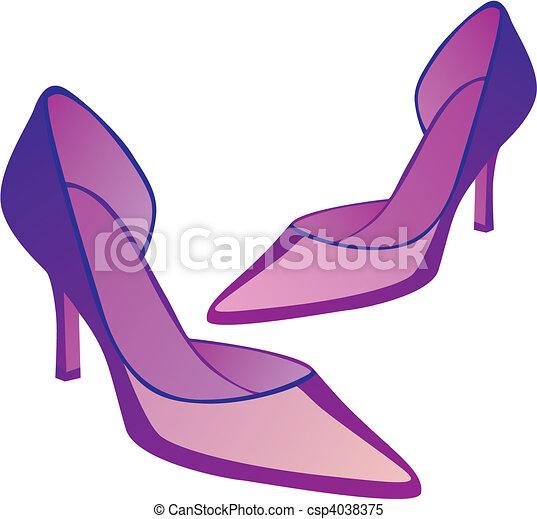 high heel pair of shoes - csp4038375