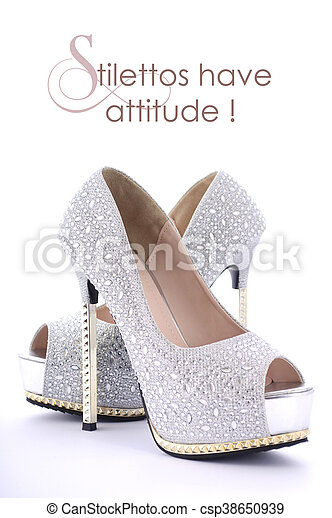High Heel Rhinestone Shoes With Funny Saying High Heel Rhinestone Stiletto Shoes With Funny Saying Stilettos Have Attitude