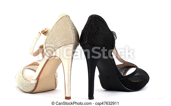 d6b4bea8dbb High heel women shoes on white background
