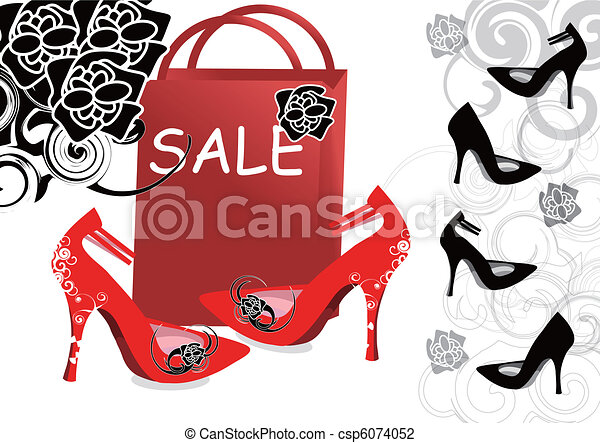 Line Art Shoes : High heeled shoes sale vector illustration search clipart