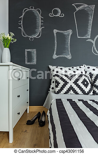 High heels by the bed - csp43091156