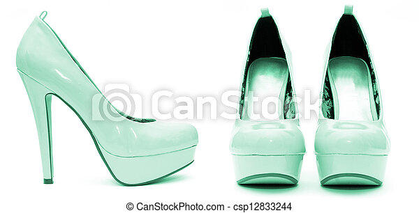 10a5ba9990 High heels with inner platform sole - pantent leather.