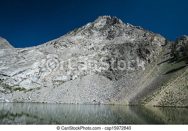 High mountain lake - csp15972840