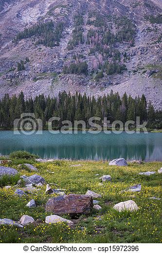 High mountain lake - csp15972396