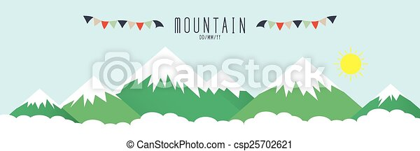 High mountains, covered by snow. - csp25702621