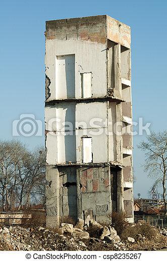 High old demolished building - csp8235267