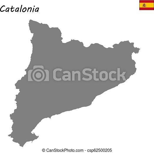 Map Of Spain Catalonia.High Quality Map Autonomous Community Of Spain