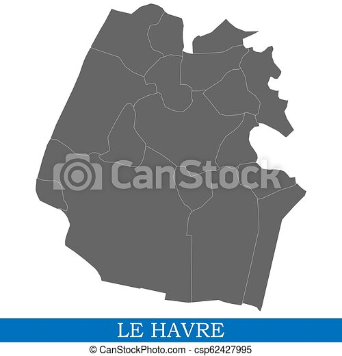 Map Of France Le Havre.High Quality Map City Of France