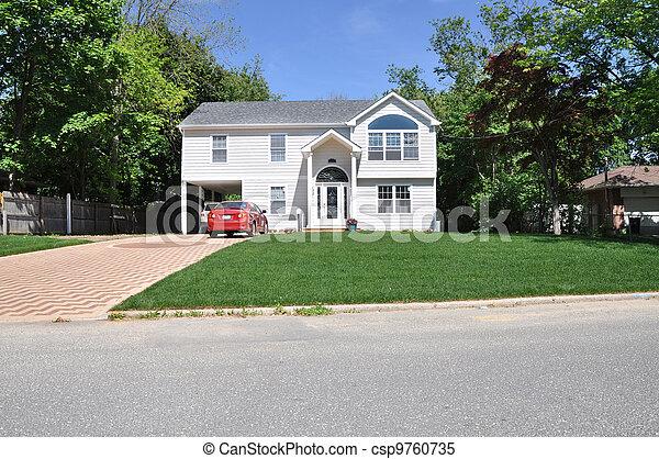 High Ranch Suburban Home - csp9760735
