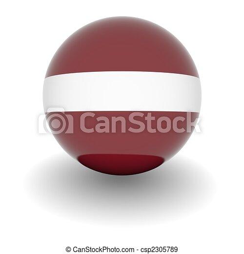 High resolution ball with flag of Latvia - csp2305789