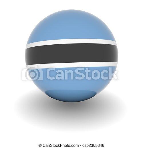 High resolution ball with flag of Botswana - csp2305846