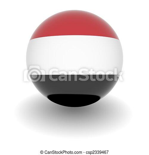 High resolution ball with flag of Yemen - csp2339467
