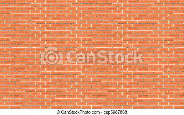 High Resolution Brick Wall 1 - csp5987868
