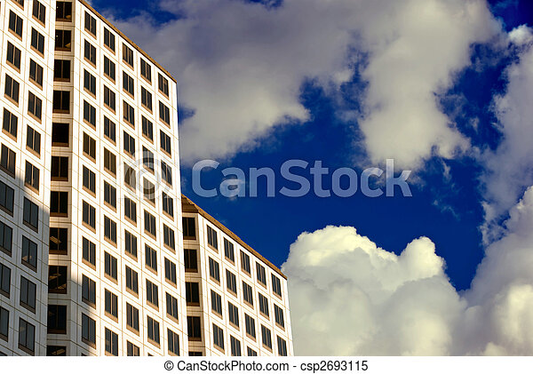 High-Rise in the Clouds - csp2693115