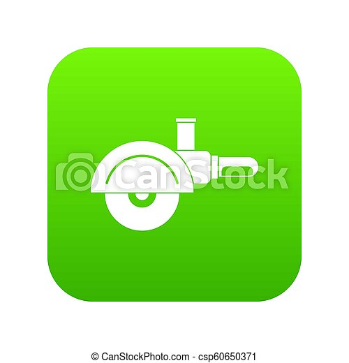 High speed cut off machine icon digital green - csp60650371