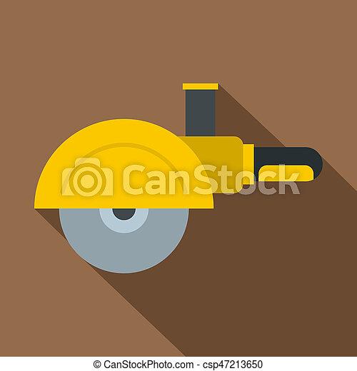 High speed cut off machine icon, flat style - csp47213650