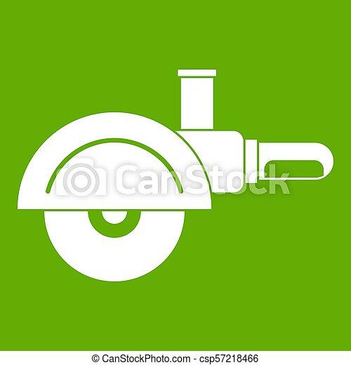 High speed cut off machine icon green - csp57218466