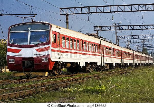 High speed passenger train on the way - csp6136652