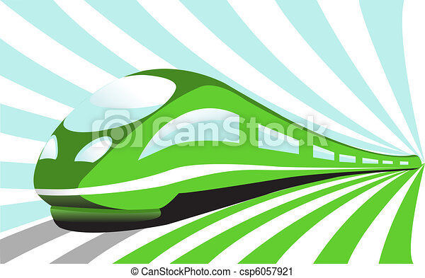 High-speed train - csp6057921