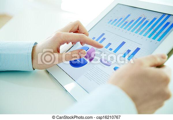 high-tech-, analyse - csp16210767