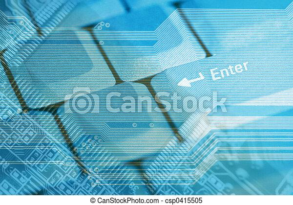 High tech background - csp0415505