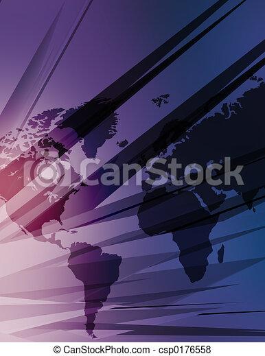 High tech map of the world - csp0176558