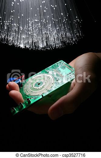 high-tech, technologie, achtergrond - csp3527716