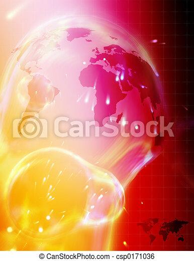 High tech world map - csp0171036
