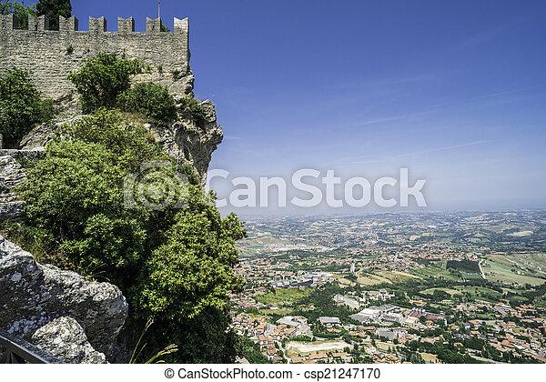High view from San Marino - csp21247170
