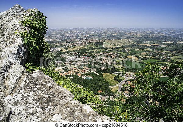 High view from San Marino - csp21804518
