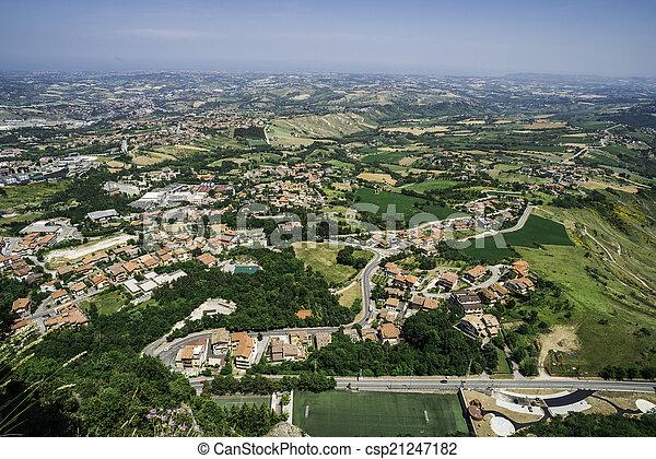 High view from San Marino - csp21247182