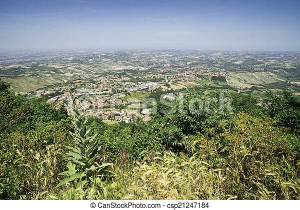 High view from San Marino - csp21247184