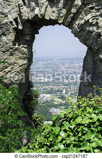 High view from San Marino - csp21247187