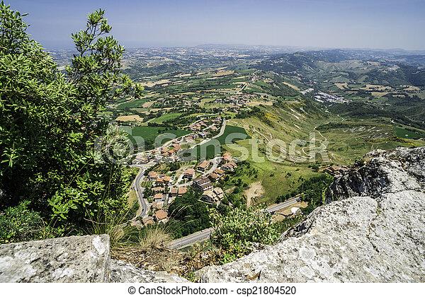 High view from San Marino - csp21804520
