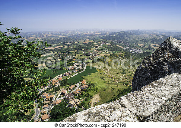 High view from San Marino - csp21247190