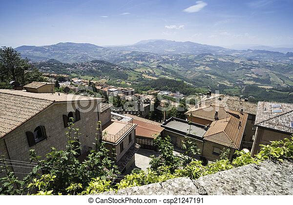 High view from San Marino - csp21247191