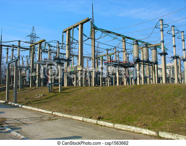 Free Line Art Converter : High voltage converter equipment at a power plant clip art search