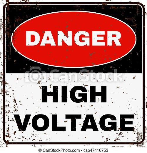 High Voltage. Danger Sign. Vector - csp47416753