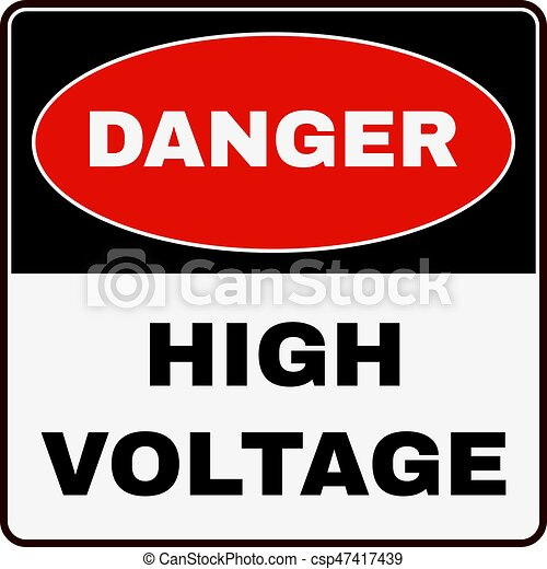 High Voltage. Danger Sign. Vector - csp47417439