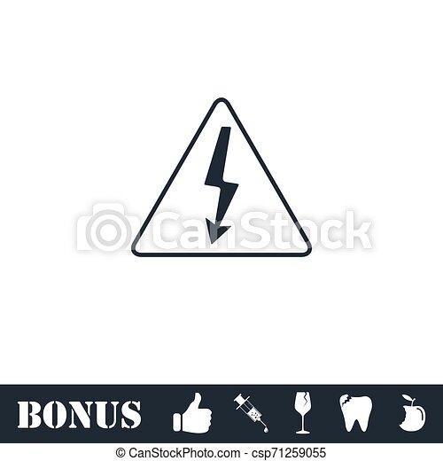 High voltage icon flat - csp71259055