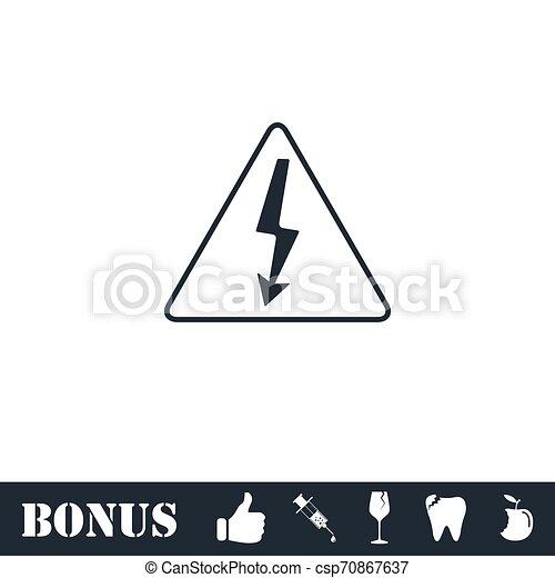 High voltage icon flat - csp70867637